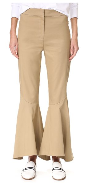 Petersyn amelia pants in khaki - Casual twill Petersyn pants have a dramatic feel, with...