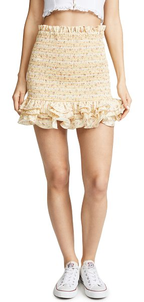 Petersyn barrett skirt in buttermilk - Fabric: Plain weave Smocked elastic Floral print Striped...
