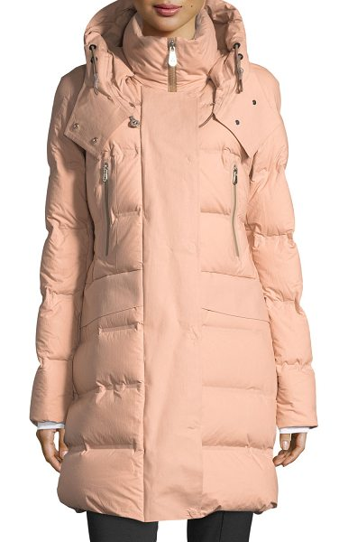 "Peuterey Giffard Long Quilted Puffer Coat in silver - EXCLUSIVELY AT NEIMAN MARCUS Peuterey ""Giffard"" quilted..."
