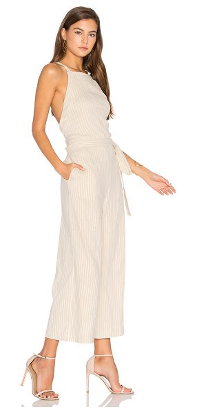 PFEIFFER Cassius Jumpsuit - Cotton blend. Waist tie. Hidden back zipper closure....