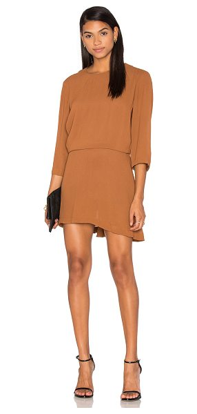 PFEIFFER The Ray Open Back Dress in brown - Silk blend. Dry clean only. Partially lined. Back...