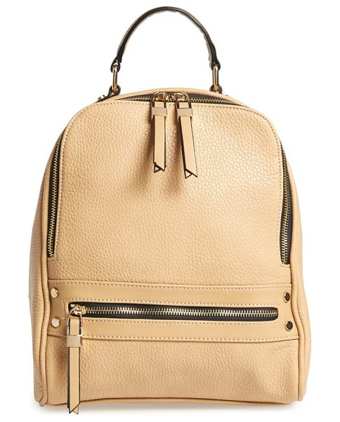 Phase 3 City backpack in camel - Clean, minimalist lines extend the urban sophistication...