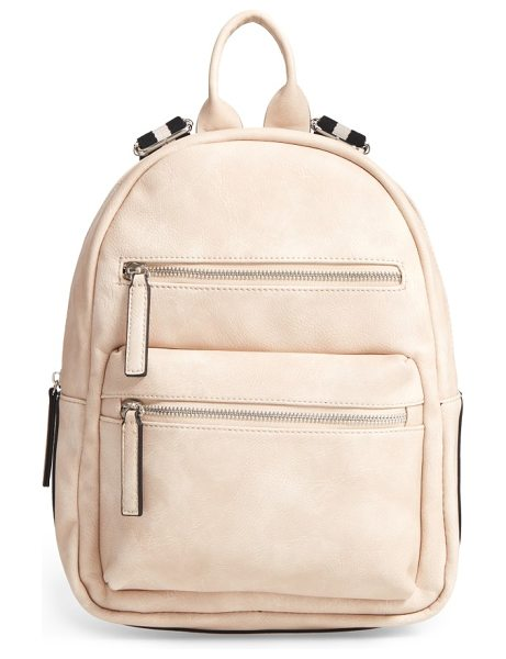 PHASE 3 faux leather backpack in stone - Amp up your street style with this faux leather backpack...