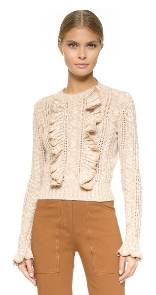 PHILOSOPHY DI LORENZO SERAFINI Long sleeve sweater - Cascading ruffle spill down the front of this...
