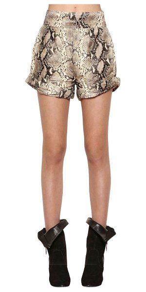 Philosophy di Lorenzo Serafini Python print tyvek shorts in python print - High waisted. Belt loops. Concealed back zip closure....