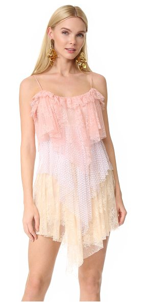 Philosophy di Lorenzo Serafini sleeveless dress in fantasy print pink - Tiers of pastel lace create a graceful ombré effect on...