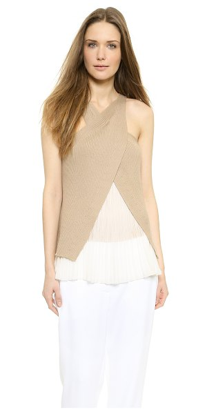 PHILOSOPHY Sleeveless top - A pleated chiffon camisole lining gives this PHILOSOPHY...