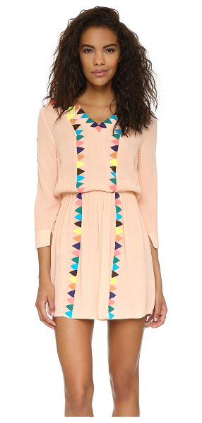 PIA PAURO Embroidered beach dress - Fluorescent appliqués lend a colorful edge to this Pia...