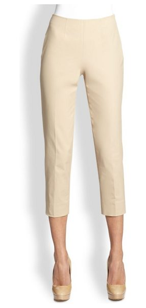 Piazza Sempione Audry cotton gabardine pants in khaki - A wardrobe staple in soft cotton gabardine, expertly...