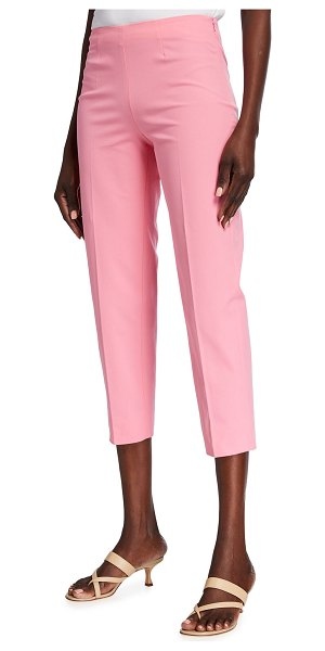Piazza Sempione Audrey Cropped Cotton Pants in pink