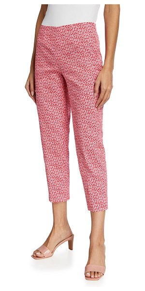 Piazza Sempione Audrey Floral Cropped Pants in pink