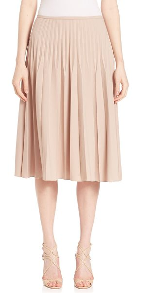 Piazza Sempione pleated wool-blend skirt in powder pink - Chic wool-blend skirt, with allover pleats. Banded...