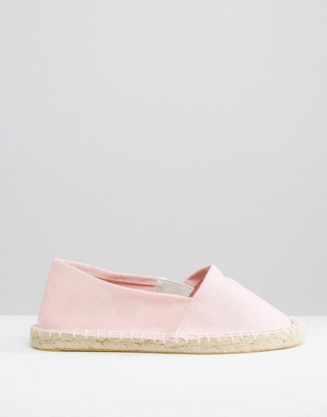 Pieces Haisha english rose espadrilles in english rose - Flat shoes by Pieces Textile canvas upper Slip-on style...