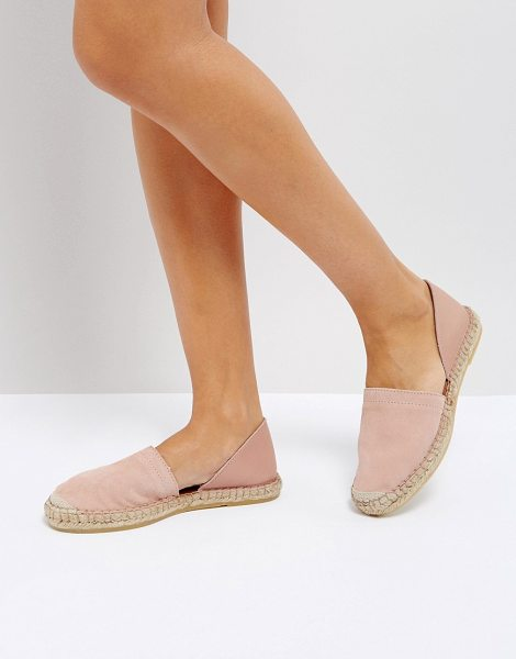 Pieces leather espadrilles in englishrose - Shoes by Pieces, Suede and leather upper, Slip-on style,...