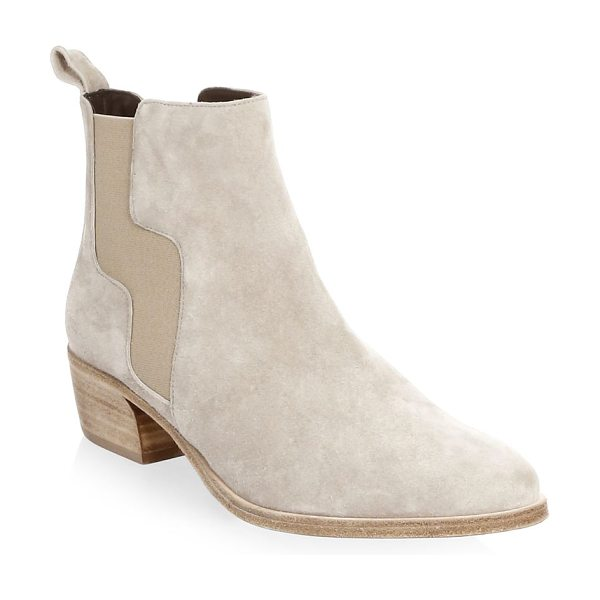 Pierre Hardy gipsy suede chelsea boots in sand - Sophisticated boots tailored from suede. Stacked heel,...