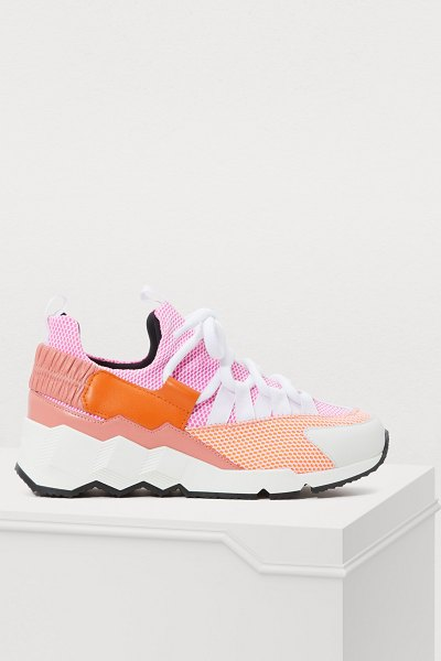 Pierre Hardy Trek Comet trainers in calf-neoprene mesh multi pink