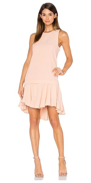 PINK STITCH Alexa Dress in blush - 100% poly. Hand wash cold. Partially lined. Back hidden...