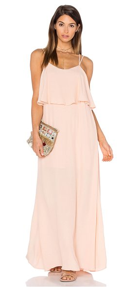 PINK STITCH Alexa Maxi Dress in blush - 100% poly. Hand wash cold. Partially lined. Bodice...