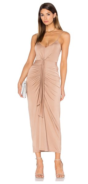 PINK STITCH Cascade Maxi Dress - 95% poly 5% spandex. Hand wash cold. Partially lined....