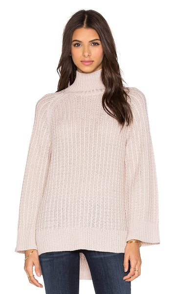 Pink Stitch Celine turtleneck sweater in blush - 70% acrylic 30% wool. Hand wash cold. PINK-WK15. 1562...