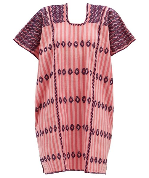 Pippa Holt no.206 embroidered cotton kaftan in pink print