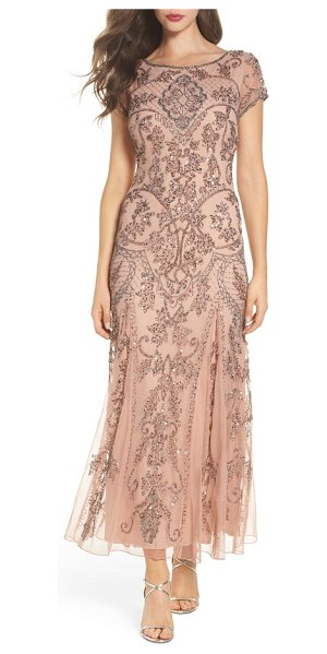 PISARRO NIGHTS embellished mesh gown - Teams of glittering beads and sequins hark back to Jazz...