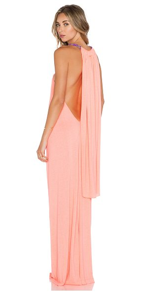Pitusa Goddess dress in coral - 60% cotton 40% poly. Neckline to hem measures approx...