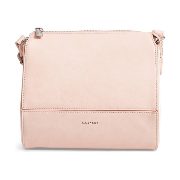 Pixie Mood faux leather crossbody bag in pink - A structured, geometric silhouette intensifies the...