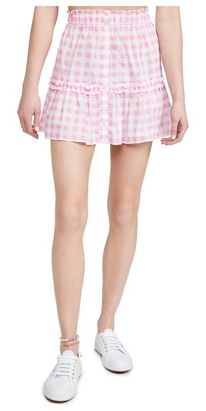 Playa Lucila gingham skirt in pink check