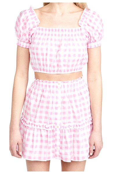 Playa Lucila gingham top in pink check
