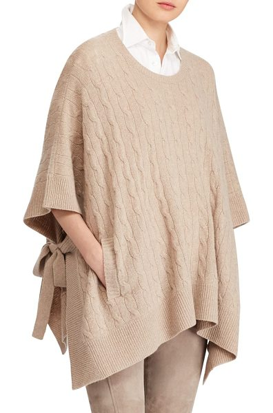 POLO RALPH LAUREN cable-knit sweater - The effortless drape of a poncho sweater meets an...