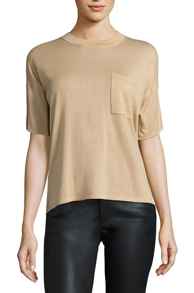 POLO RALPH LAUREN cashmere pocket tee in sand - Featherweight cashmere puts a luxe spin on the must-have...