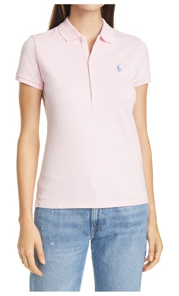Polo Ralph Lauren julie slim fit polo shirt in pink