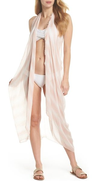 POOL TO PARTY spirit cover-up vest in peach - As fun over denim as it is over your suit, this playful...