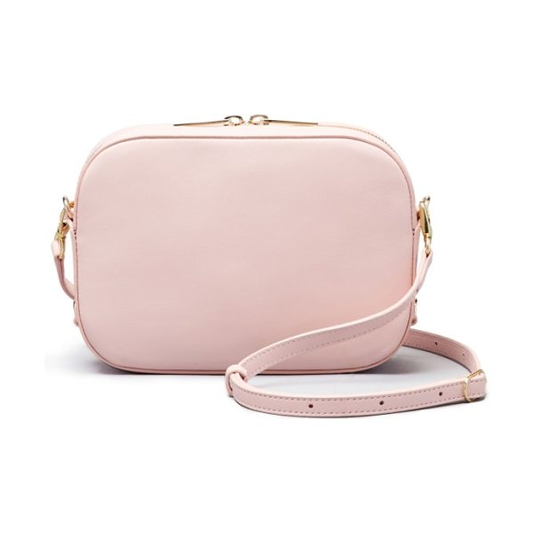 Pop & Suki bigger leather camera bag in cotton candy - Crafted in rich leather, this sleekly structured camera...