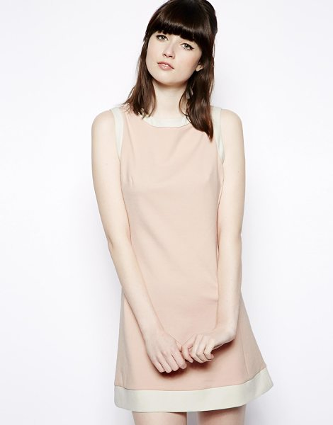 Pop Boutique Shift dress with button back in pink - Machine Wash According To Instructions On Care Label....