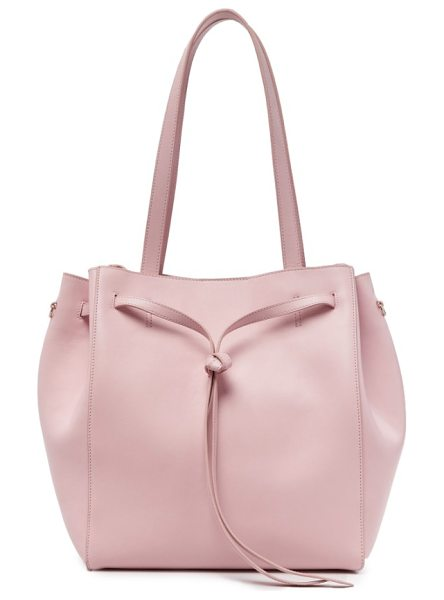 Pop & Suki carryall tote in cotton candy - Crafted in smooth, supple leather and cinched with an...