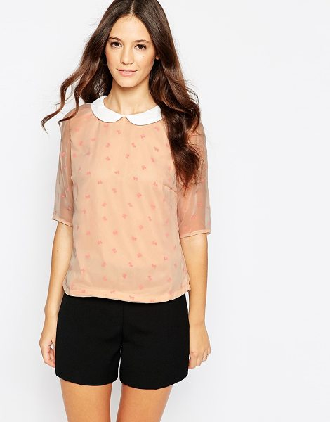POPPY LUX Bow blouse - Top by Poppy Lux Lightweight, semi-sheer woven Lined...