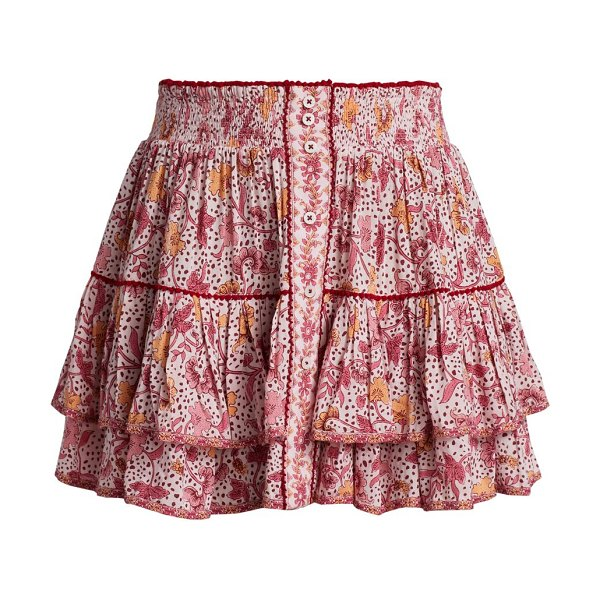 POUPETTE ST BARTH camilla spotted floral mini skirt in pink clary