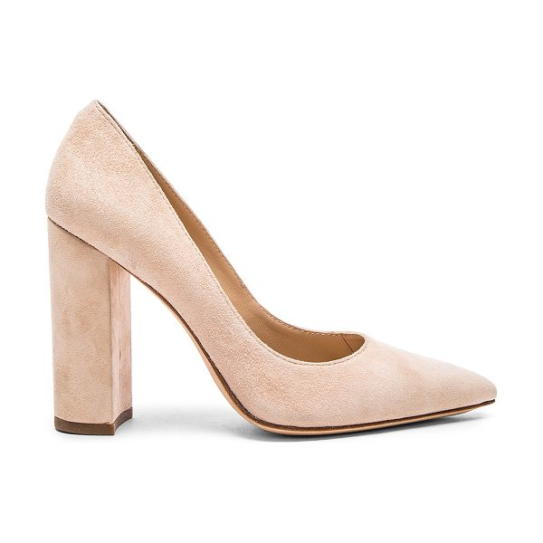 "POUR LA VICTOIRE Celina Heel - Suede upper with leather sole. Heel measures approx 4""""..."