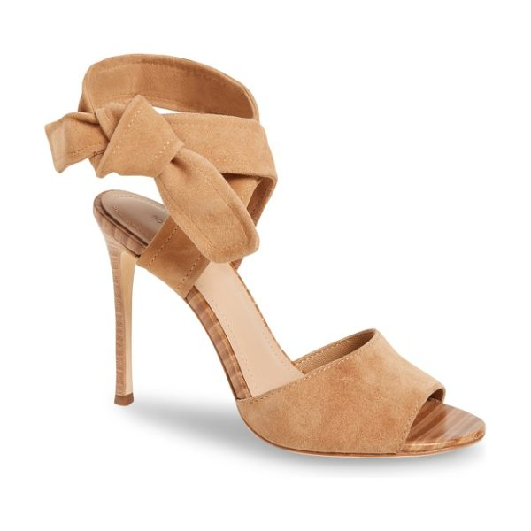 Pour la Victoire elsa sandal in camel - A knotted strap exemplifies the chic simplicity of this...