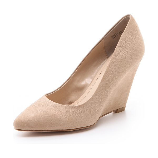 POUR LA VICTOIRE Mai wedge pumps in beige - A tapered wedge heel lends ladylike lift to a pair of...