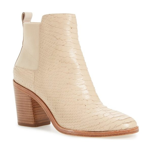 Pour la Victoire willux chelsea boot in parchment leather - A lofty block heel brings a modern element to a...