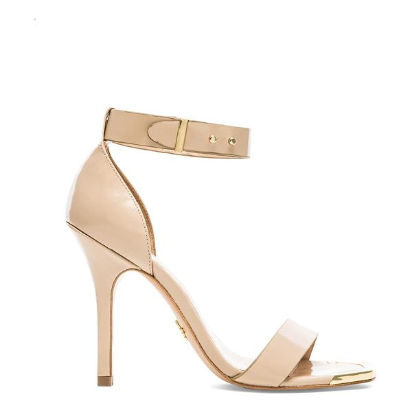 Pour la Victoire Yaya heel in beige - Leather upper with man made sole. Heel measures approx...