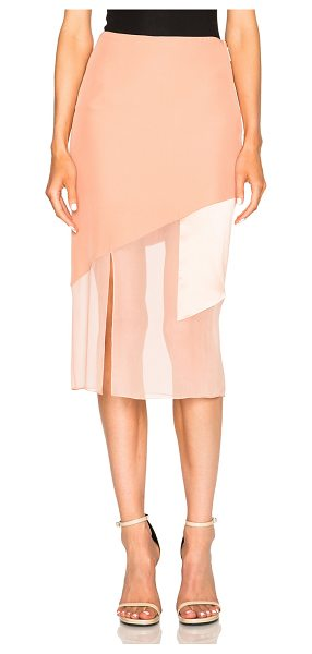 Prabal Gurung Charmeuse Skirt in pink - 100% silk.  Made in USA.  Hidden side zip closure.  Side...
