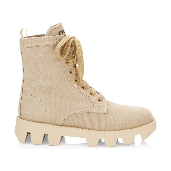 Prada canvas hiker boots in cord
