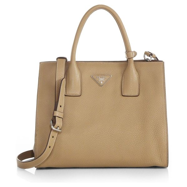 PRADA Daino twin-pocket tote - A timeless classic, this luxurious pebbled-leather...
