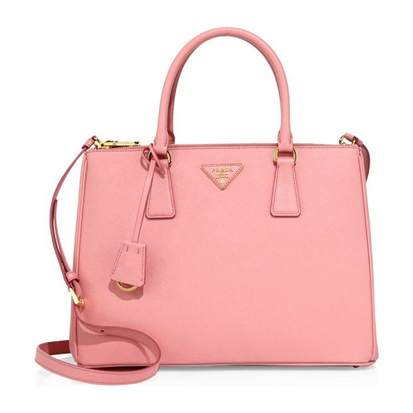 Prada medium galleria leather satchel in petalo - Sophisticated structured satchel in polished saffiano...