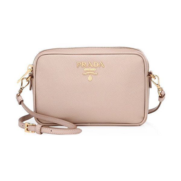 2084e09b584b ... release date prada saffiano camera bag in cipria saffiano leather  camera bag with metallic logo applique discount ...