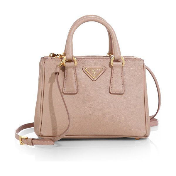 Prada saffiano lux mini satchel in cammeo-nude - Crafted from beautifully textured Saffiano leather in a...
